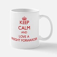 Keep Calm and Love a Freight Forwarder Mugs