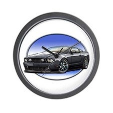 GT Stang Black Wall Clock