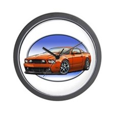 GT Stang Orange Wall Clock