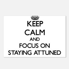Keep Calm And Focus On Staying Attuned Postcards (
