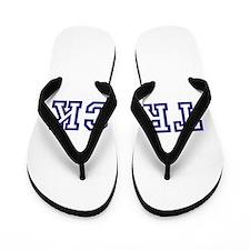 Track Athletic Blue Flip Flops