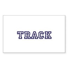 Track Athletic Blue Decal