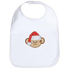 Christmas Santa Monkey Bib
