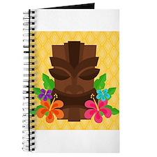 Tiki Head on Yellow Journal