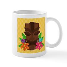 Tiki Head on Yellow Mugs
