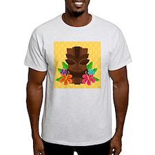 Tiki Head on Yellow T-Shirt