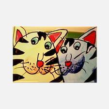 Cat's friendship Rectangle Magnet