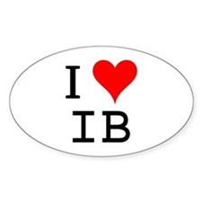 I Love IB Oval Decal