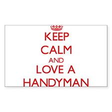 Keep Calm and Love a Handyman Decal