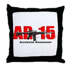 AR15 (Adult Humor) Throw Pillow