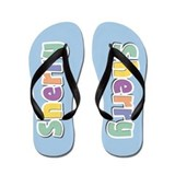 Female name sherry Flip Flops
