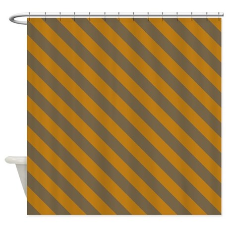 Brown Modern Striped Shower Curtain By PatternedShop