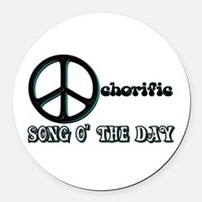 the Ochorific Song o the Day Round Car Magnet