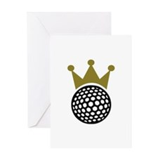 Golf crown Greeting Card