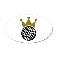 Golf crown 20x12 Oval Wall Decal