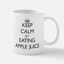 Keep calm by eating Apple Juice Mugs