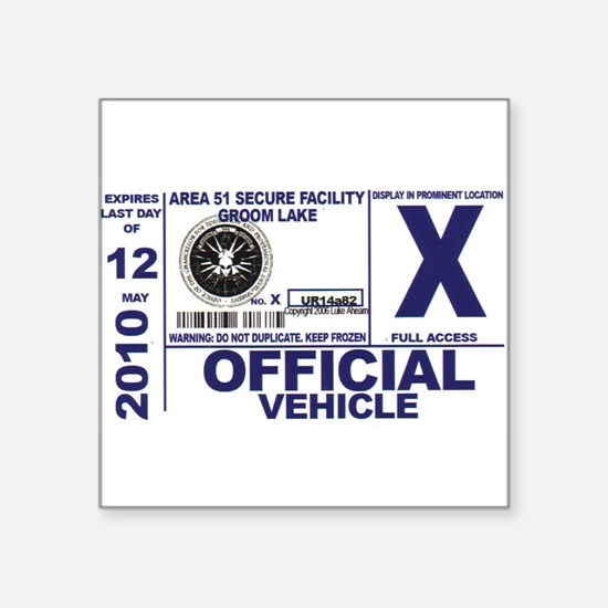 Area 51 Official Vehicle Pass Sticker