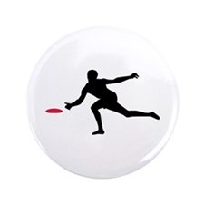 "Discgolf player 3.5"" Button"