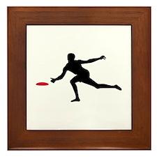 Discgolf player Framed Tile