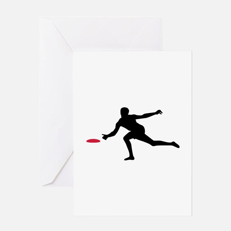 Discgolf player Greeting Card