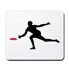 Discgolf player Mousepad