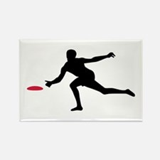 Discgolf player Rectangle Magnet (100 pack)