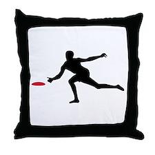 Discgolf player Throw Pillow
