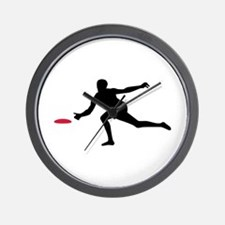 Discgolf player Wall Clock