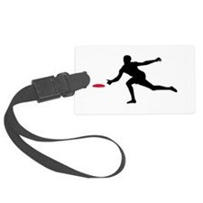 Discgolf player Luggage Tag