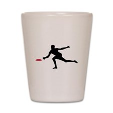 Discgolf player Shot Glass