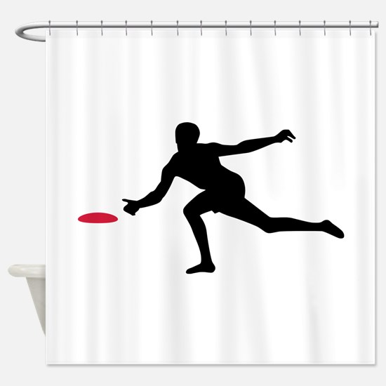 Discgolf player Shower Curtain