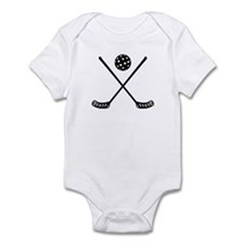Crossed floorball sticks Infant Bodysuit