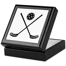 Crossed floorball sticks Keepsake Box