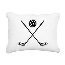 Crossed floorball sticks Rectangular Canvas Pillow