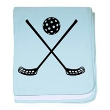 Crossed floorball sticks baby blanket