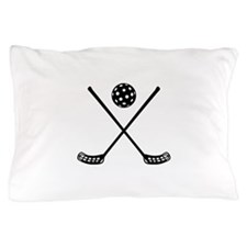 Crossed floorball sticks Pillow Case