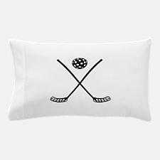 Crossed floorball sticks Pillow Case
