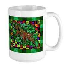 Colorful Horned Toad Woodcut Mugs