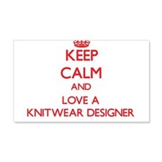 Keep Calm and Love a Knitwear Designer Wall Decal