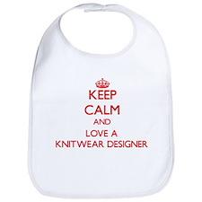 Keep Calm and Love a Knitwear Designer Bib