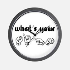 What's Your Sign Wall Clock