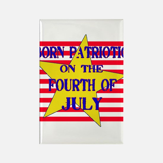 Born on 4th of July Rectangle Magnet