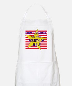 Born on 4th of July BBQ Apron