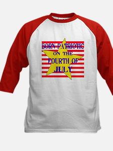 Born on 4th of July Kids Baseball Jersey