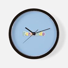 Fernando Spring14 Wall Clock