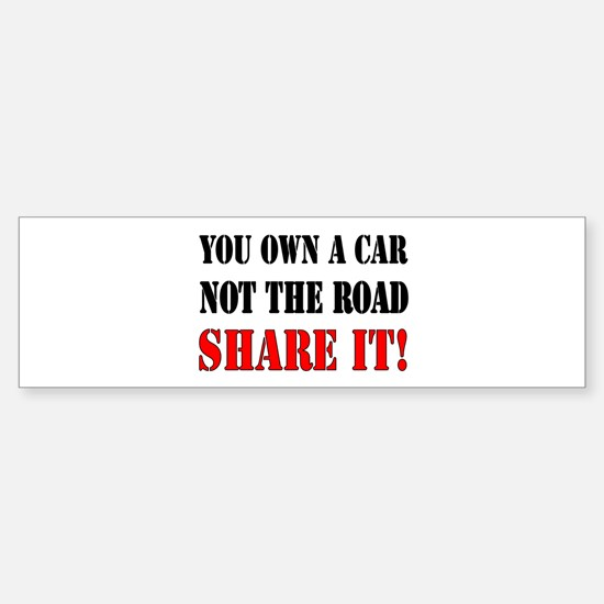 Motorcycle Awareness Stickers CafePress - Custom motorcycle bumper stickers awareness