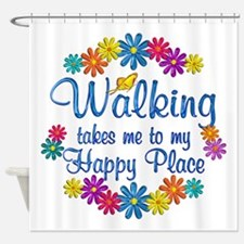 Walking Happy Place Shower Curtain