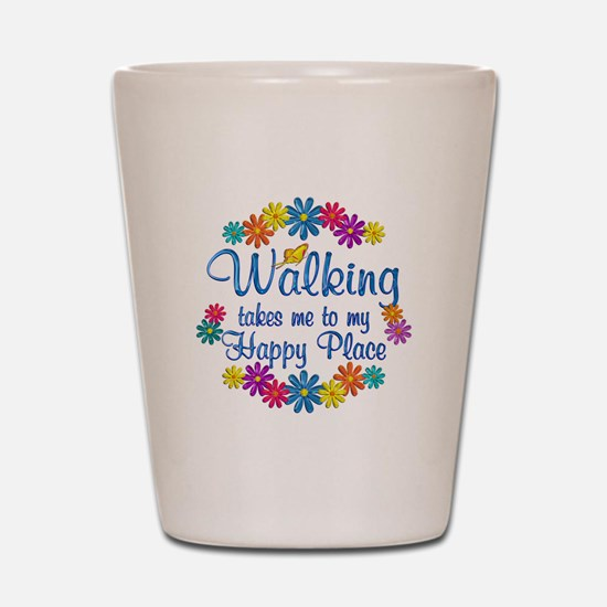 Walking Happy Place Shot Glass