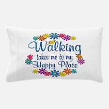 Walking Happy Place Pillow Case