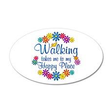 Walking Happy Place Wall Sticker